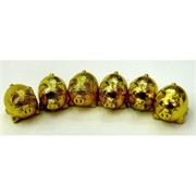 6 свинок набор под золото полистоун (NS-526) символ 2019 года