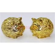 2 свинки под золото полистоун копилка (NS-529) символ 2019 года