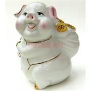 Свинья копилка (NS-508) из фарфора 15 см
