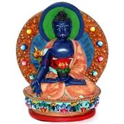 Будда в позе лотоса цветной (NS-286)