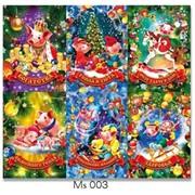 Магнит Новогодний 6-в-1 (MS-003) размер 6,5х4,7 см цена за 6 шт