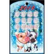 Доска разделочная 28х18 см «календарь и 2 свинки»