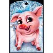 Доска разделочная 28х18 см «свинка с человеческими глазами»