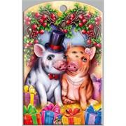 Доска разделочная 28х18 см «свиная семейка»