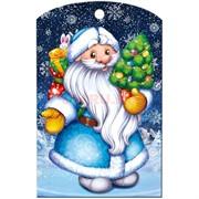 Доска разделочная 28х18 см «Дед Мороз с елкой»