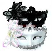 Маска карнавальная белая и черная