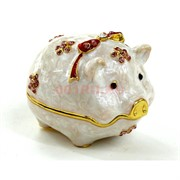 Шкатулка со стразами (2868) «свинка с бантиком»