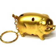 Зажигалка брелок Свинка золотая 10 шт/бл