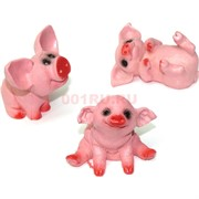 Свинки веселые розовые из керамики