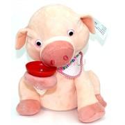 Игрушка музыкальная (AJ-309) Свинья-копилка мягкая