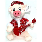 Игрушка музыкальная (AJ-311) Свинка с гитарой на 3 песни