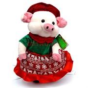 Игрушка музыкальная (AJ-308) Свинка в платье на 3 песни