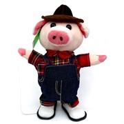 Игрушка музыкальная (AJ-305) Свинка в комбинезоне на 3 песни