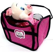 Свинка игрушка мягкая в сумке Chi-Chi Love