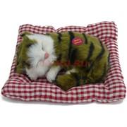 Кошечка малая спящая на подушке со звуком