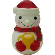 Сквиши «Снеговик с кружкой» 12 шт/уп