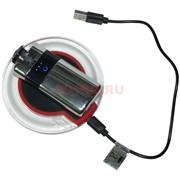 Зажигалка USB разрядная сенсорная с беспроводной зарядкой