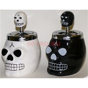 Пепельница керамическая «Череп» 2 цвета