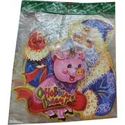 Картинка новогодняя Свинка 10 шт/уп виды в ассортименте