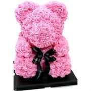 Мишка из роз большой 8 шт/кор 3 цвета