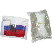 Флаг России 8x12 см двойной 100 шт/уп