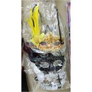 Маска карнавальная 3 цвета с перьями