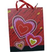Пакет подарочный 26x32 см «Сердце» 4 рисунка 20 шт/уп