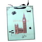 Пакет подарочный 12x15 см «Города» 4 рисунка 20 шт/уп