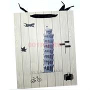 Пакет подарочный 32x45 см «Города» 4 рисунка 20 шт/уп