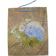 Пакет подарочный 26x32 см «Газета» 4 рисунка 20 шт/уп