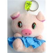 Свинка мягкая игрушка (Pig-23) брелок 24 шт/уп