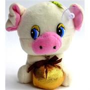Свинка мягкая игрушка (Pig-26) с присоской 24 шт/уп