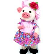 Свинка мягкая игрушка (Pig-4) музыкальная на 3 песни