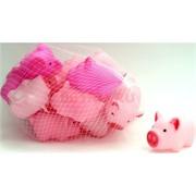 Свинка резиновая мягкая пищащая 20 шт/уп