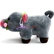 Свинка мягкая игрушка (Pig-28) с присоской 12 шт/уп
