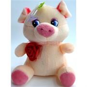 Свинка мягкая игрушка (Pig-19) с присоской 12 шт/уп