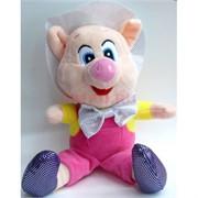 Свинка мягкая игрушка (Pig-18) с присоской 12 шт/уп