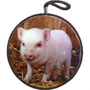 Подставка под горячее со свинками символ 2019 года