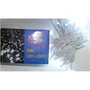 Гирлянда 100 LED ламп 10 м белый холодный свет