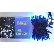 Гирлянда 100 LED ламп 10 м синий свет