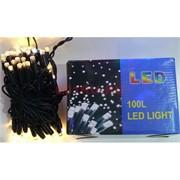 Гирлянда 100 LED ламп 10 м белый теплый свет