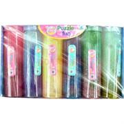 Лизун мялка банка 420 гр цветной с блестками 6 шт/уп
