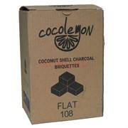 Уголь для кальяна Cocolemon кокосовый 108 кубиков Flat