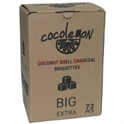 Уголь для кальяна Cocolemon кокосовый 72 кубика Big Extra