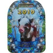 Доска разделочная деревянная Свинья символ 2019 года