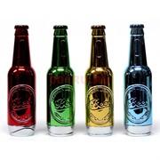 Зажигалка газовая «бутылка пива» 4 цвета