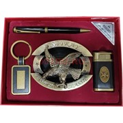 Набор подарочный Moongrass «зажигалка, пепельница орел, ручка, брелок»