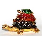 "Шкатулка со стразами ""Три черепахи"""