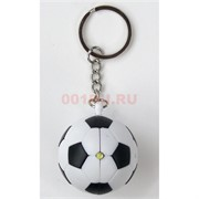 Брелок фонарик «футбольный мяч» со звуком 12 шт/уп
