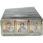 """Икона-оберег """"тройка"""" на липучке с ликами святых 25 шт/уп"""